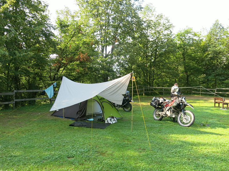 Campsite at Kobarid