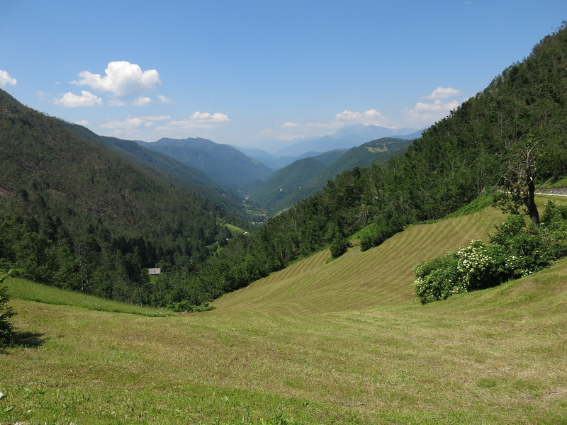 View on the valley near Idrija.