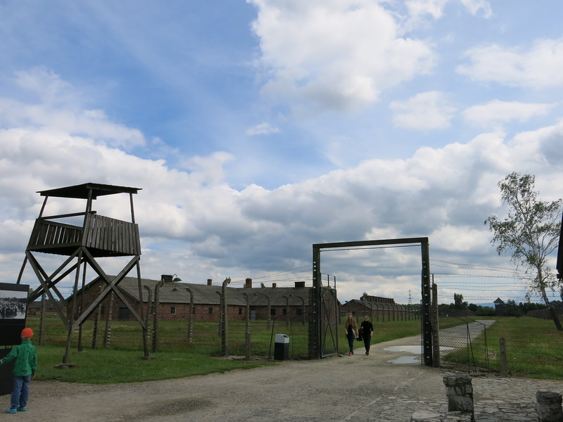 Gate towards one side of the camp