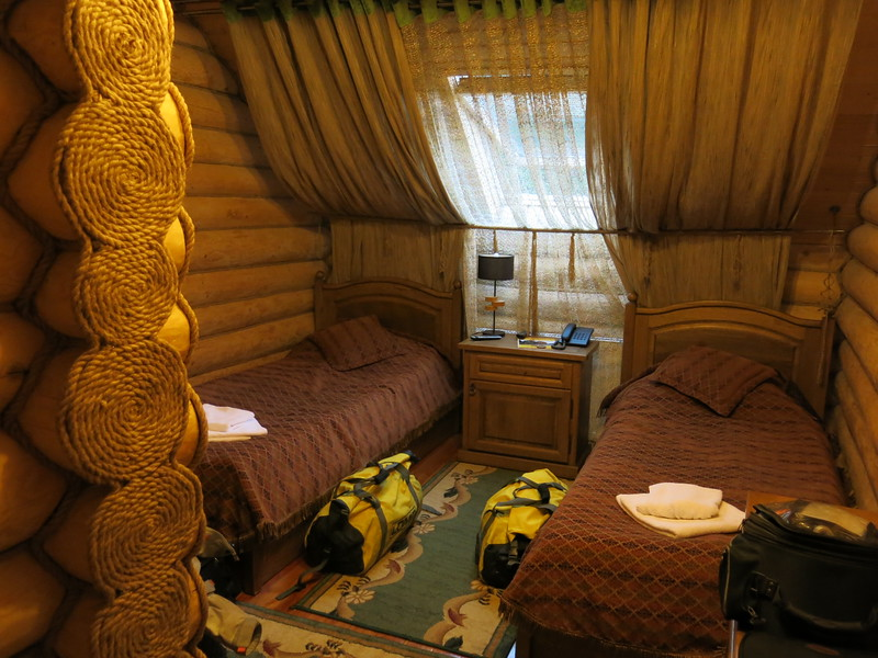 Our room for the coming days. Very woody.