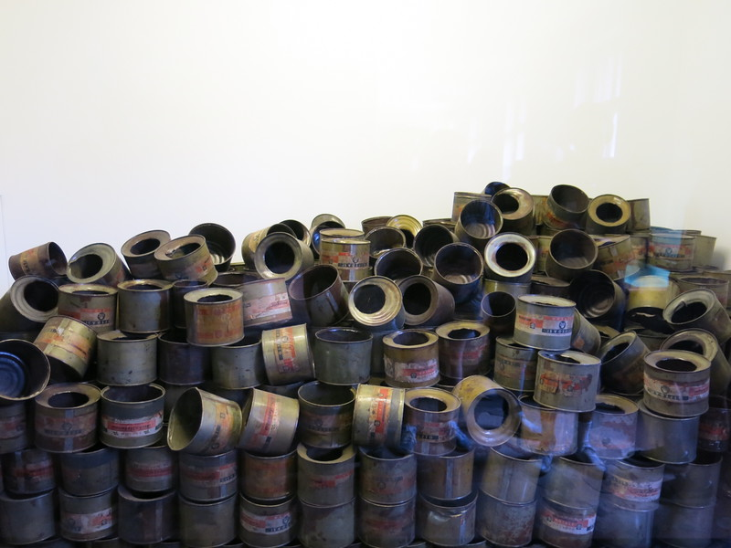 Empy cans of Zyklon B gas pellets