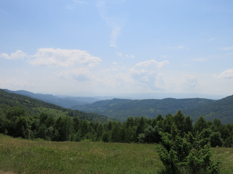 View over the Carpathian mountain range