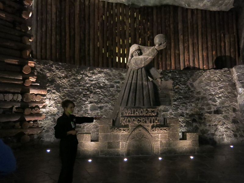 Copernicus, One of many salt carvings in the Wieliczka Salt Mine