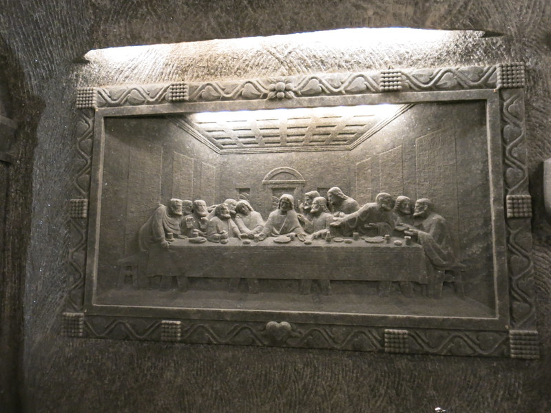 Salt carving of the last supper