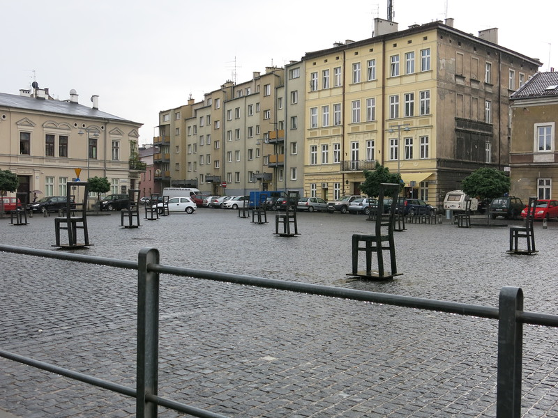 Deportation square, now Plac Bohaterow Getta in Podgorze Jewish Ghetto