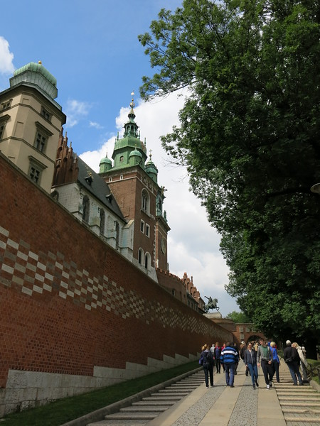 Entering Wawel castle