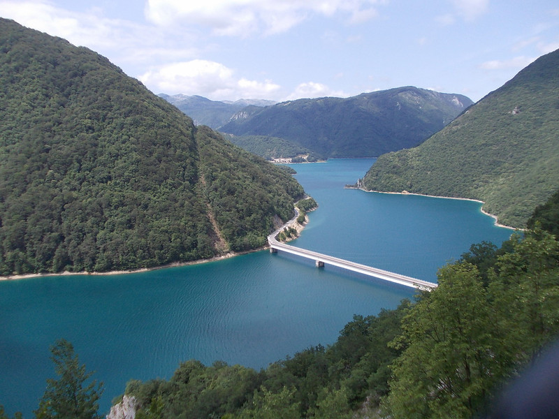 View on Piva river in Montenegro