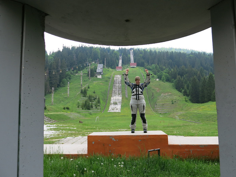Ski jump and (in)famous stage