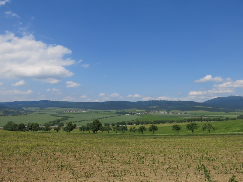 Countryside around Spis castle