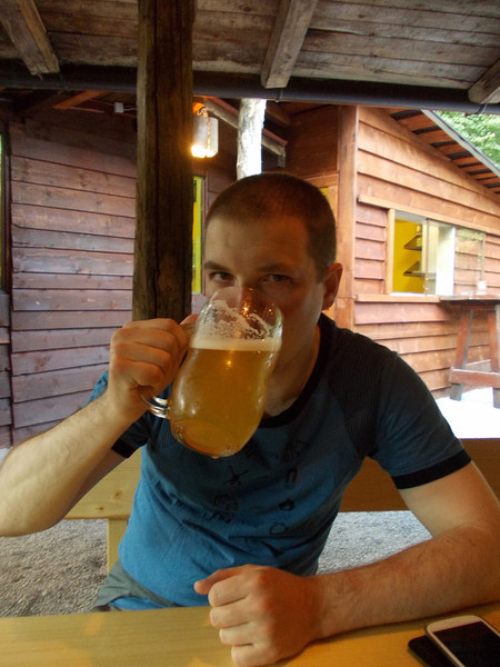 a well deserved beer @ Kobarid, Slovenia