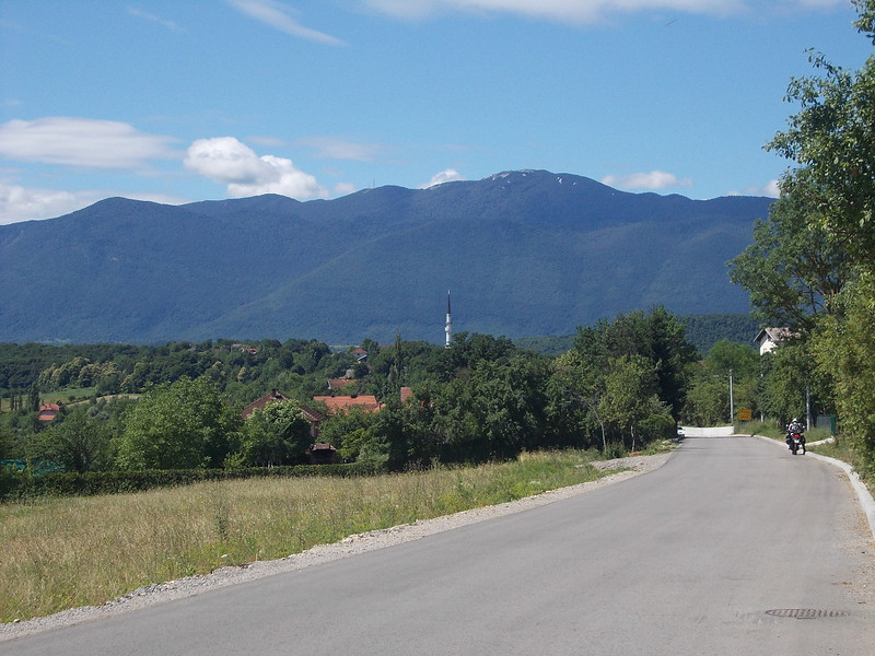 View on the landscape near Bihac, Bosnia