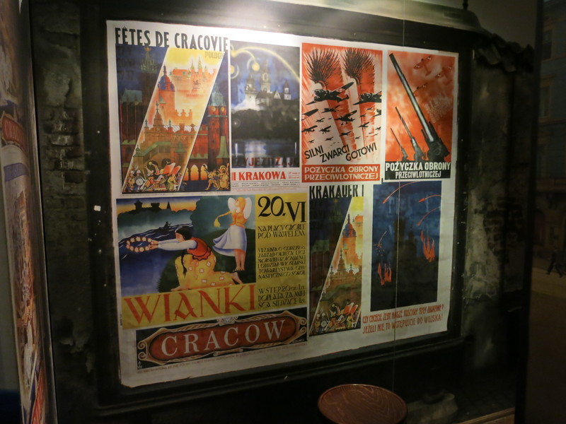 Krakow posters at the advent of the war