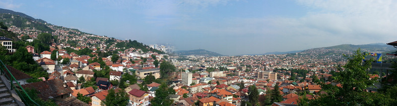 Beautiful views on the city of Sarajevo