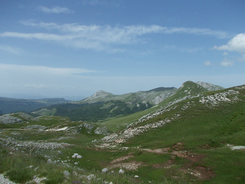 View over the hills around Orlovačko Jezero