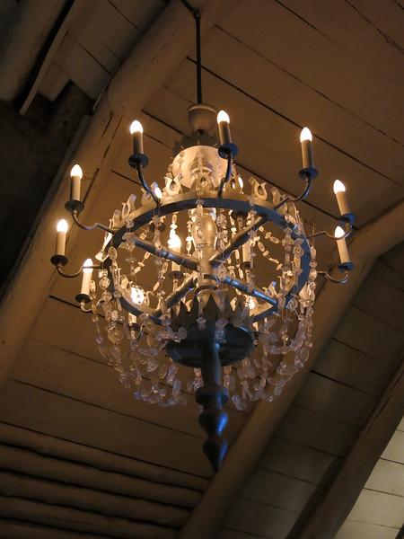 Salt crystal chandelier