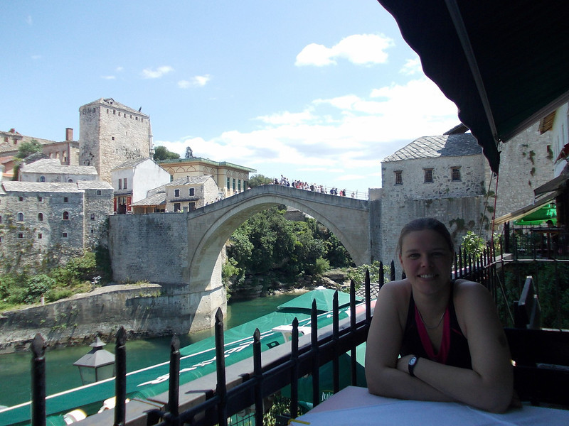 Lunch with a view @ Mostar, Bosnia