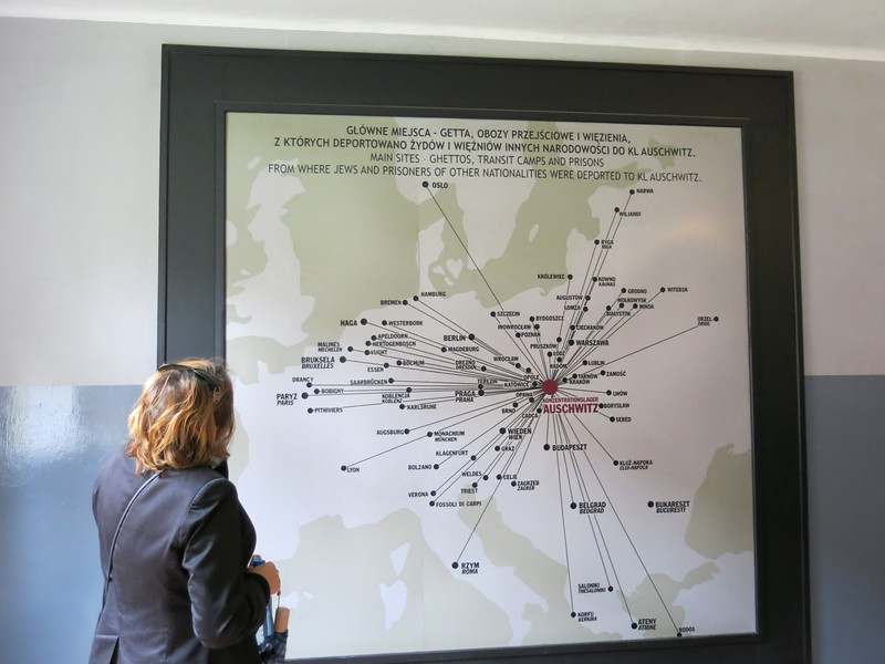 Guide explaining where all the Jews in Auschwitz came from.