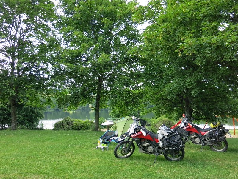 Last camp site of the trip, at the lake near Heisterberg