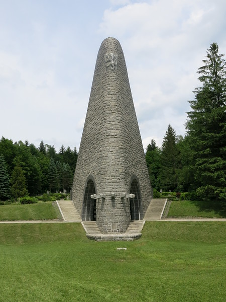 Memorial building at Slovakian army cemetery near Dukla pass