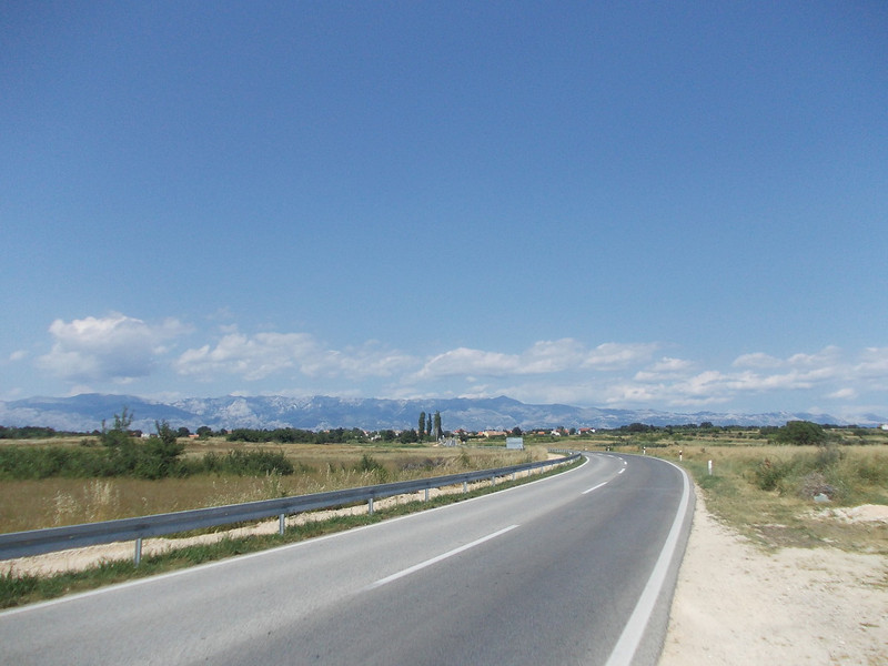 view on some beautiful hillsides near Zadar, Croatia
