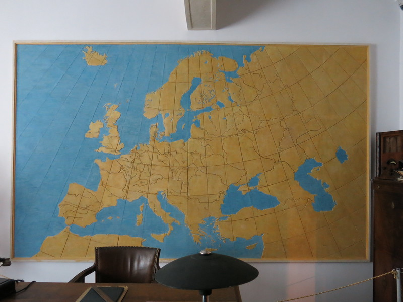 Map of Europe inside Schindler