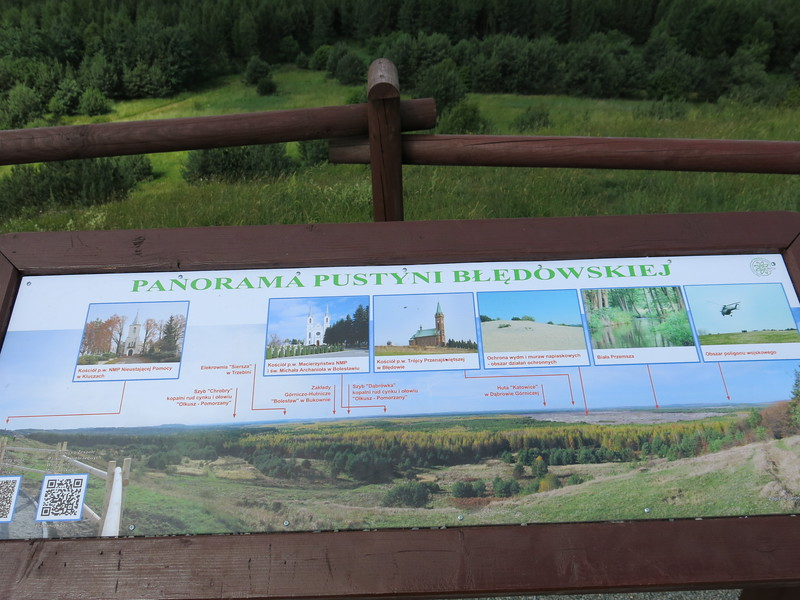 Panorama information at Bledow desert lookout