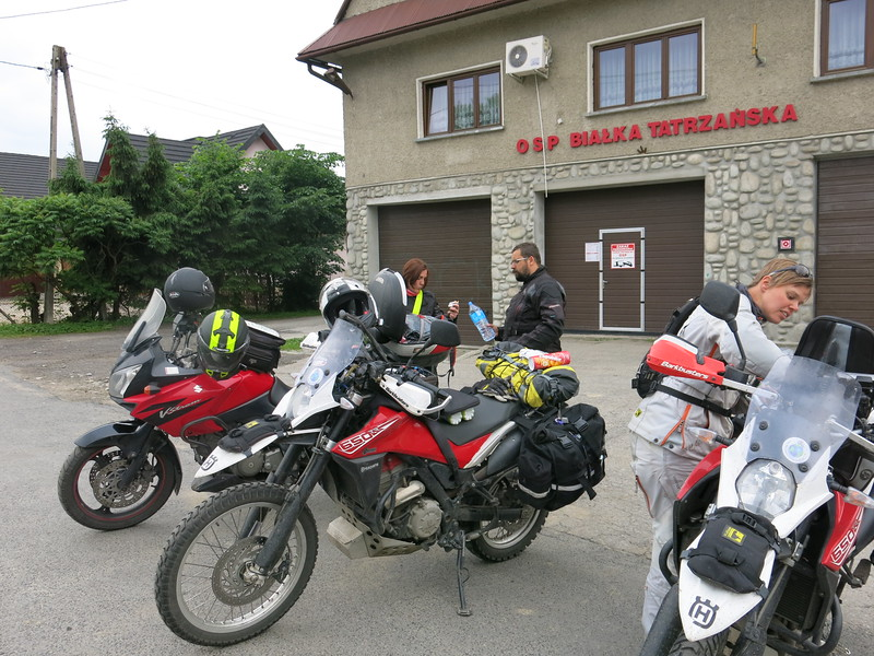 Chance re-encounter with Krzysztof and Gosia near Zakopane