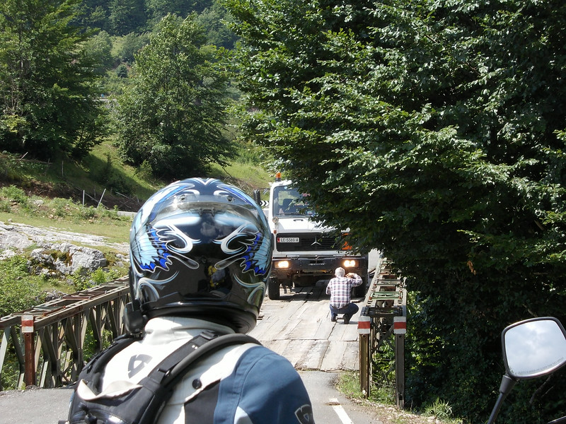 Crossing a bridge, Albanian style