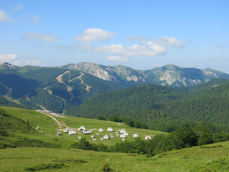 View over Eko Katun Vranjak