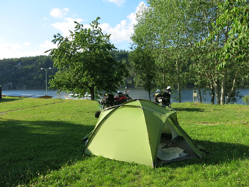 Our last campsite in the Czech Republic at the lake near Plesnice
