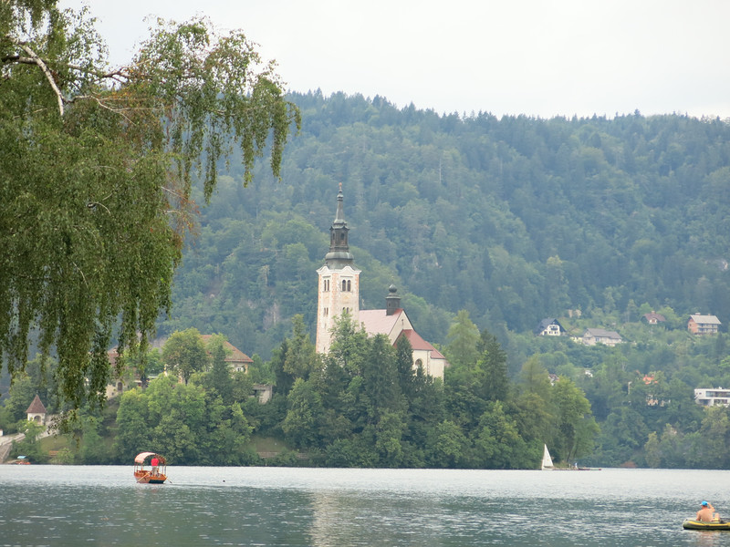 Wedding chapel at Lake Bled