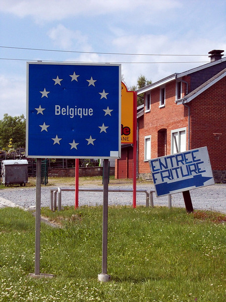 and the final border crossing... no. 18: back home! Entering Belgium