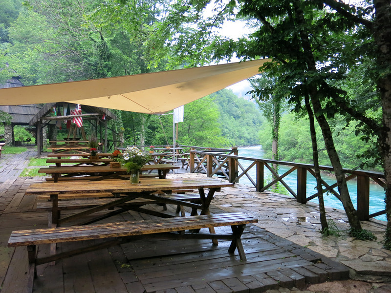 Cosy bar overlooking the Tara river