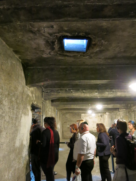 Inside the gas chamber at Auschwitz I
