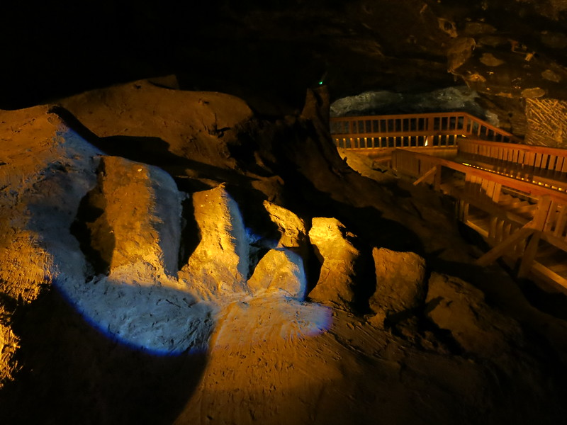 Old stairs carved out of the salt rocks