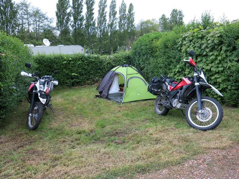 Campsite in Honfleur, Normandy. Camping de la Phare