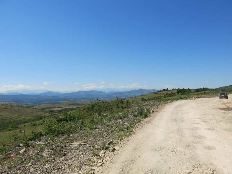 Gravelroad towards the Kosovo border