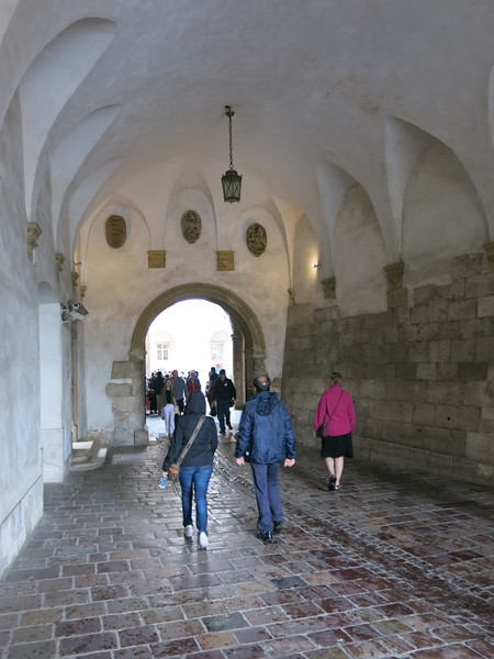 Towards the main part of the castle