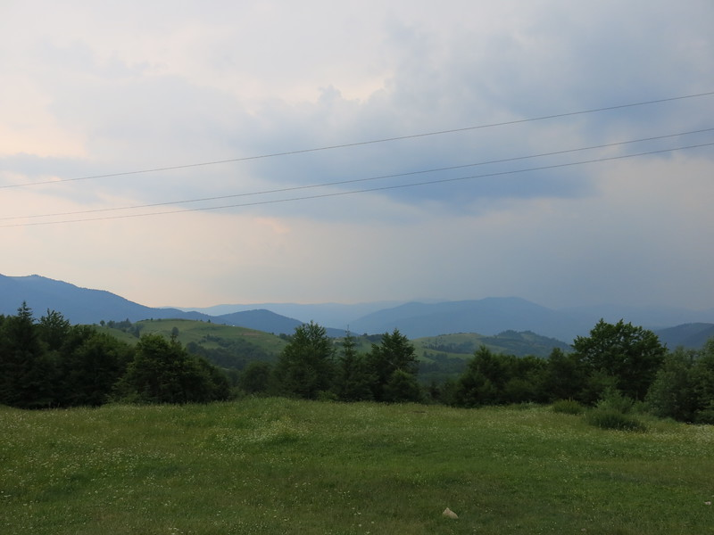 Carpathians in the clouds
