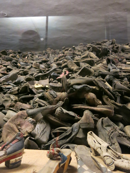 Gigantic pile of shoes