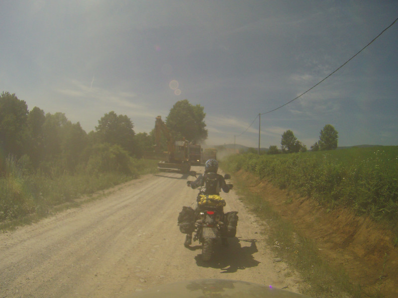 Bosnian road works