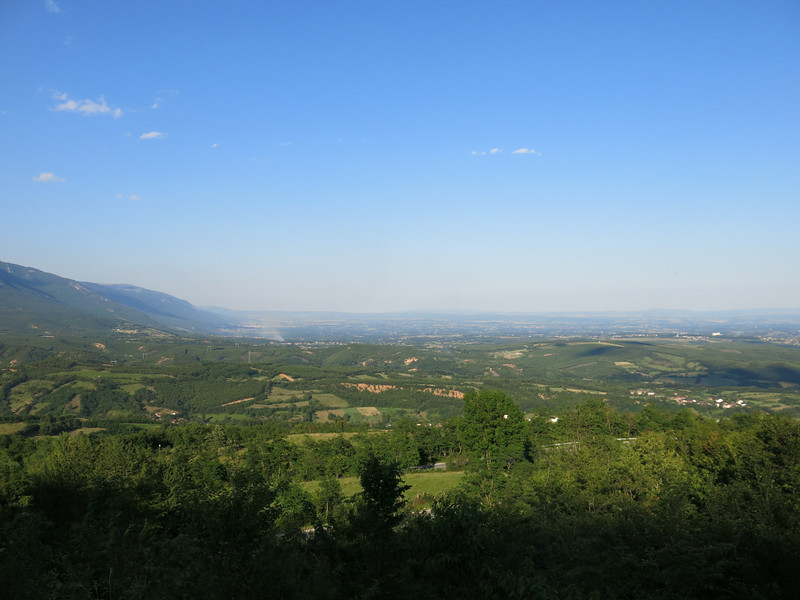 View over Kosovo... Flat as a pancake as far as the eye can stretch!