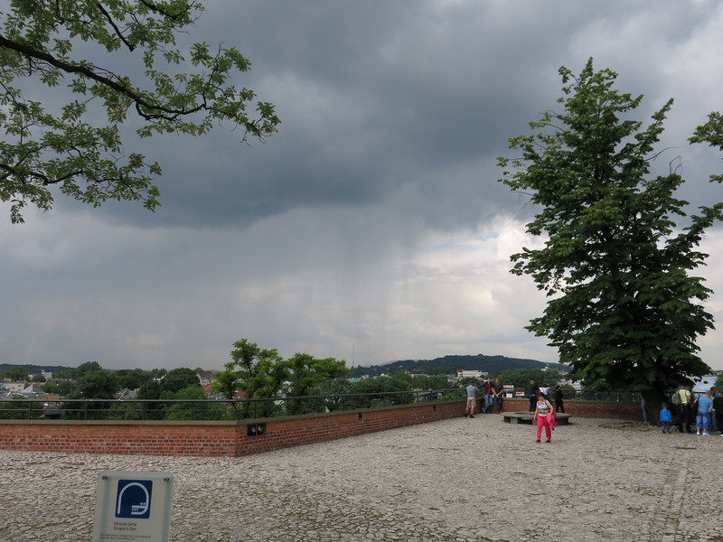 Thunderstorm moving in on Krakow