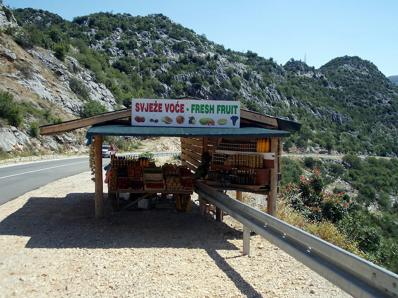 Fruit stall near Metkovic, Croatia