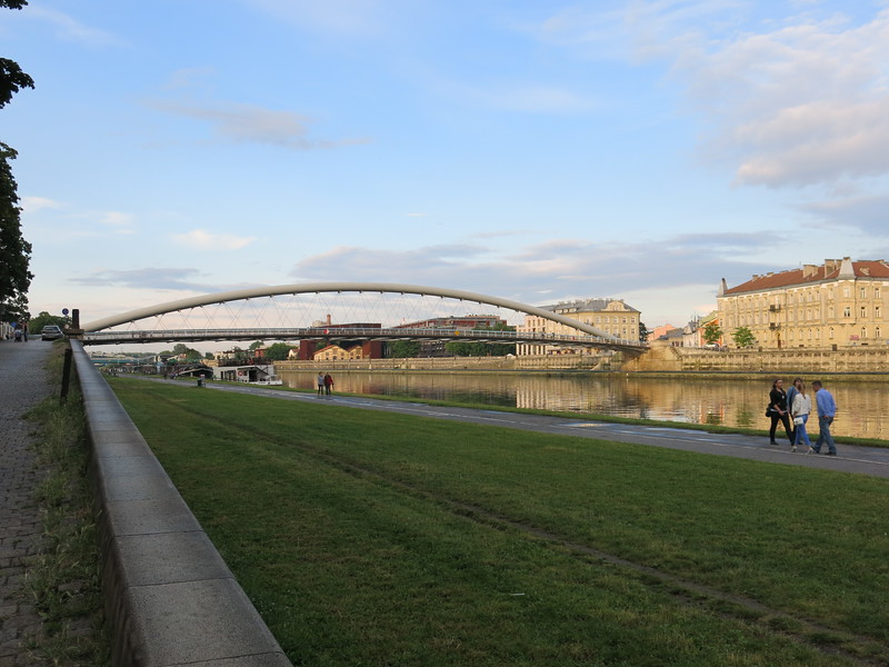 Pedestrian bridge across the Wisla river