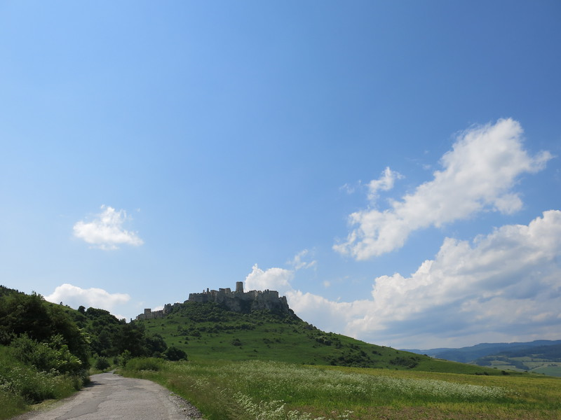 Spis castle towering above the surrounding countryside