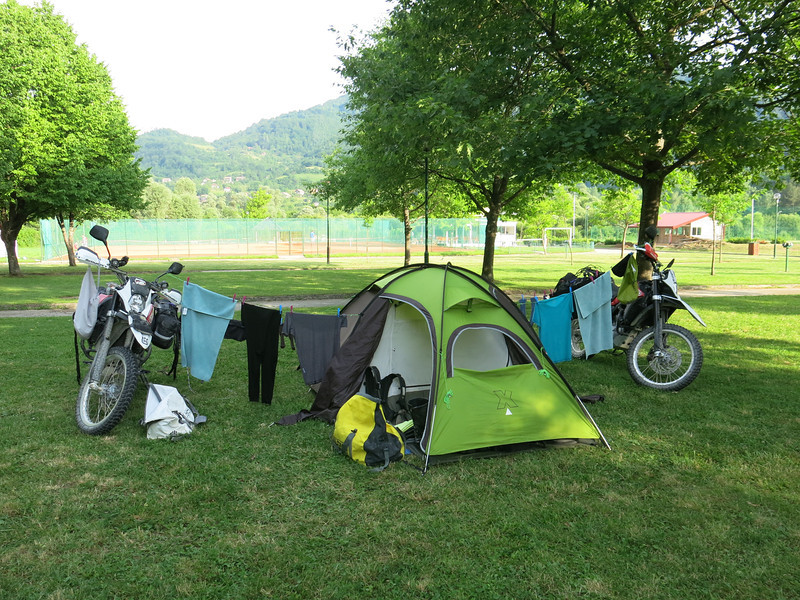 Campsite at Jajce