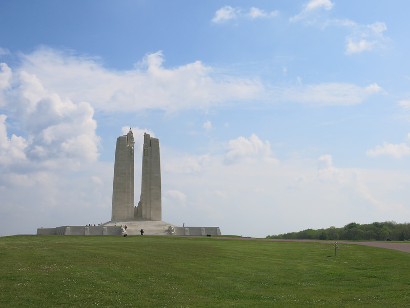 Canadian momument at Vimy Ridge commemorating the Great War