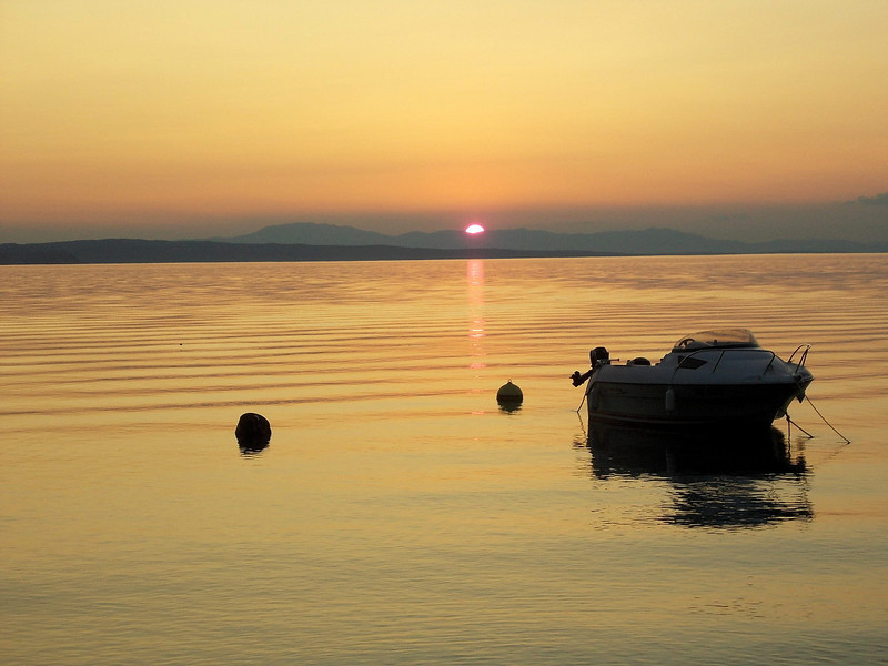sunset near Senj, Croatia