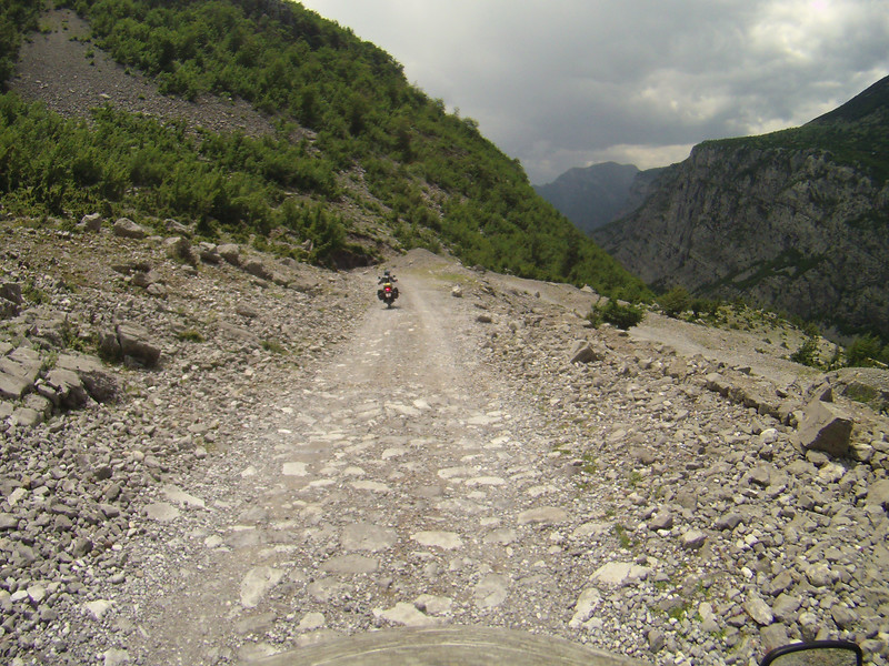 Rough Albanian mountains